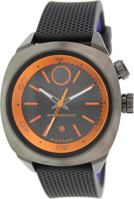 Movado Men's Bold 3600212 Gunmetal Silicone Swiss Quartz Watch
