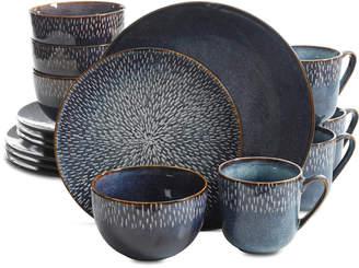 Laurie Gates Matisse Round Blue 16-Pc. Dinnerware Set