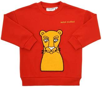 Mini Rodini Leo Patch Cotton Sweatshirt