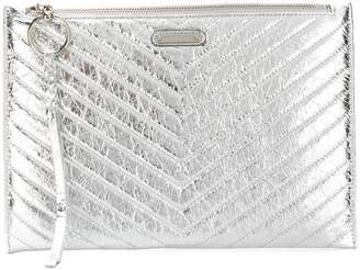 Rebecca Minkoff quilted metallic clutch