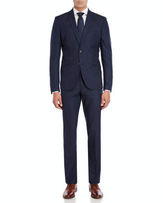 Kenneth Cole Reaction Two-Piece Blue Plaid Suit