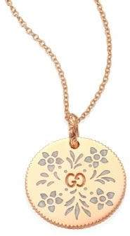 Gucci Icon Blooms 18K Rose Gold Pendant Necklace