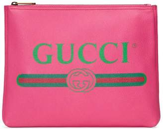 Gucci Print leather medium portfolio