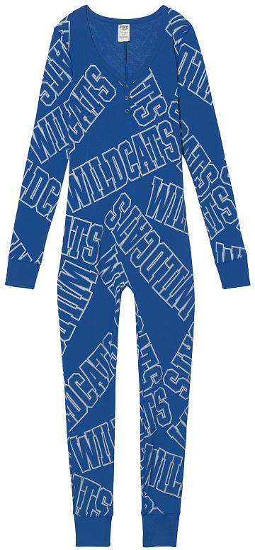 PINK University Of Kentucky Waffle Henley Onesie