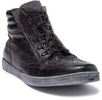 Bed Stu Bed|Stu Aqua Leather Hi-Top Lace-Up Sneaker