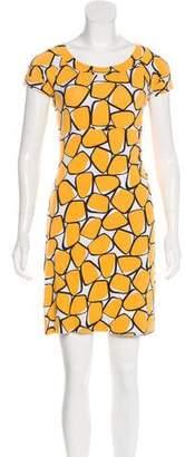 Diane von Furstenberg Scoop Neck Mini Dress