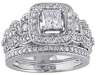 Affinity Diamond Jewelry Affinity 14K 1.25 cttw Princess-Cut DiamondRing Set