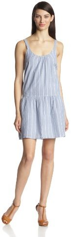 Joie Women's Pedaru Vertical Stripe On Voile Cami Dress