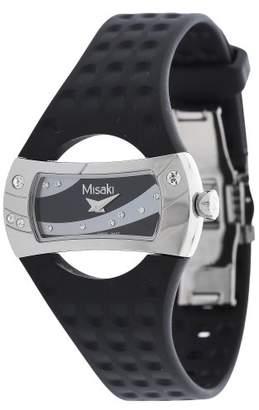 Misaki Men's Quartz Watch with Black Dial Analogue Display Quartz Silicone PWMANTA