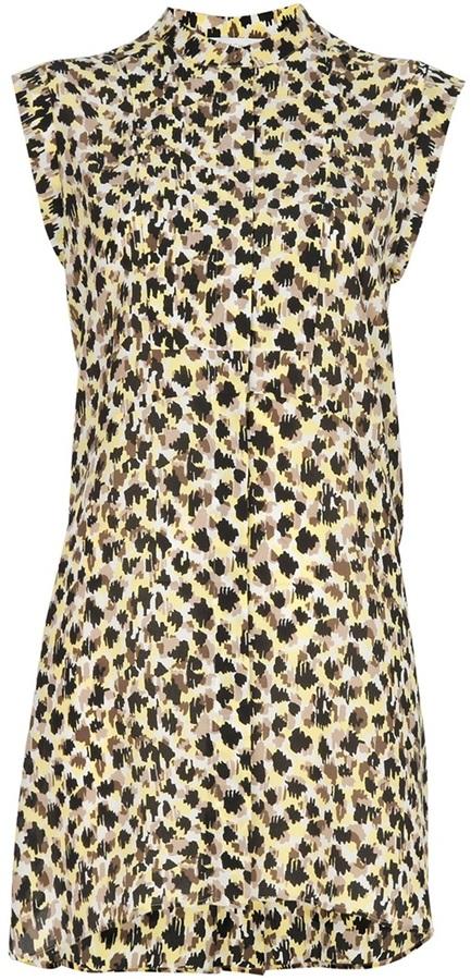 See by Chloe stylised leopard print dress