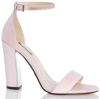 99989c5fa51d Dorothy Perkins Womens  Quiz Pink Diamante Ankle Strap Sandals