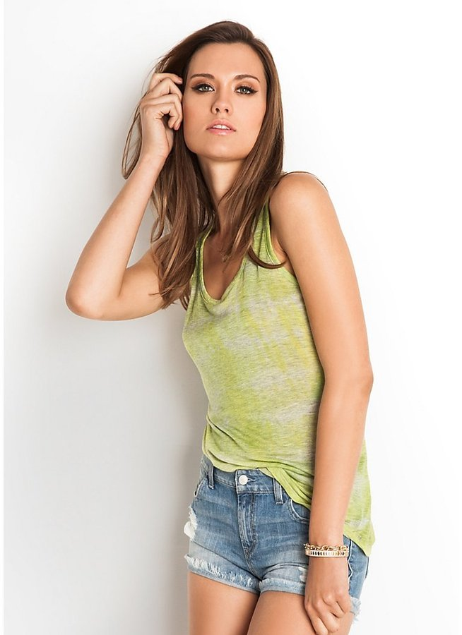 GUESS Heathered Burnout Tank