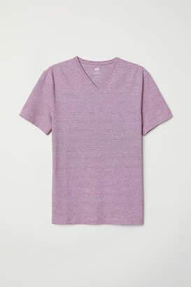 H&M Slim Fit V-neck T-shirt - Red