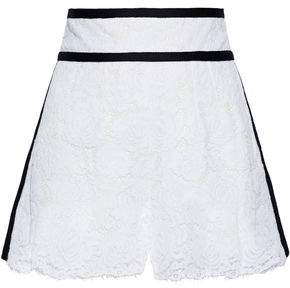 Philosophy di Lorenzo Serafini Scalloped Cotton-blend Corded Lace Shorts