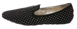 Jimmy Choo Studded Suede Loafers