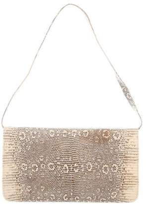 Manolo Blahnik Ring Lizard Shoulder Bag