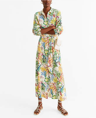 MANGO Printed Shirt Dress