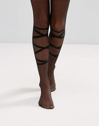 Asos Tie Up Detail Tights