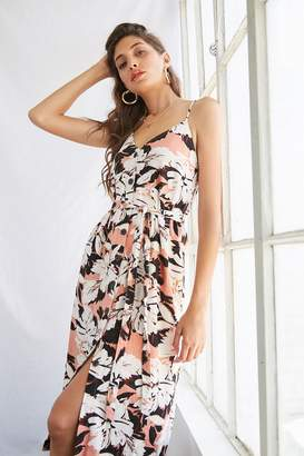 Forever 21 Tropical Print Button-Front Dress