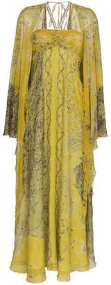 Etro Paisley embellished silk gown