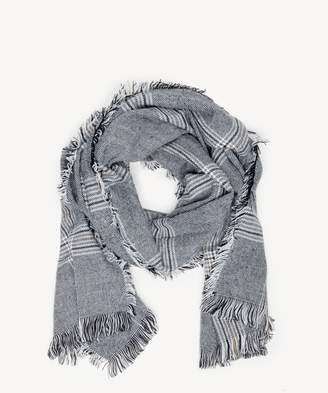 Sole Society Houndstooth Checkered Scarf