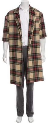Fear Of God Wool Tartan Overcoat beige Wool Tartan Overcoat