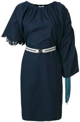 Fendi belted draped dress