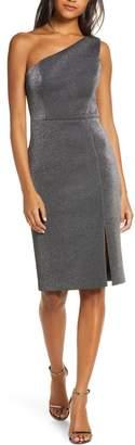 Vince Camuto One-Shoulder Metallic Body-Con Dress