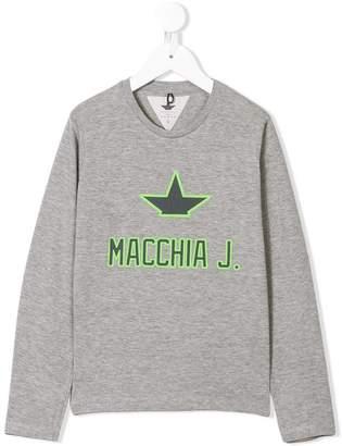 Macchia J Kids ロゴ スウェットシャツ