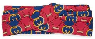 Gucci Headband with Interlocking G rhombus print