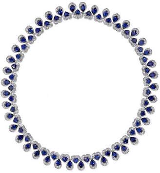 Chopard 18-karat White Gold, Sapphire And Diamond Necklace