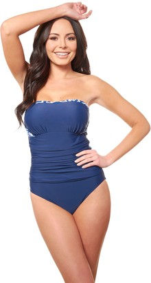 206a11b2522 Carol Wior 4-Way Bandeau One-Piece Swimsuit