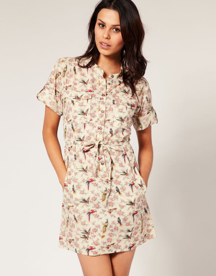 French Connection Birds Of A Feather Shirt Dress