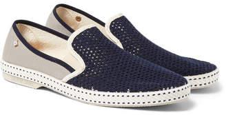 Rivieras Vajoliroja Cotton-Mesh Slip-On Shoes - Men - Blue