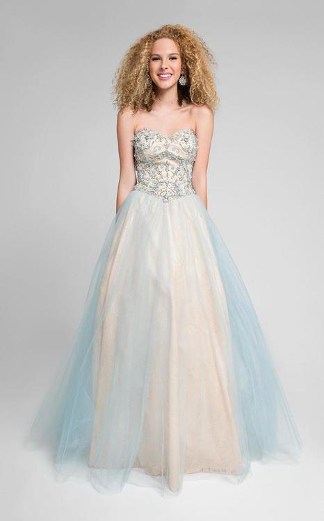 Terani Prom - Dazzling Beaded Strapless Sweetheart Polyester A-line Dress 1711P2855