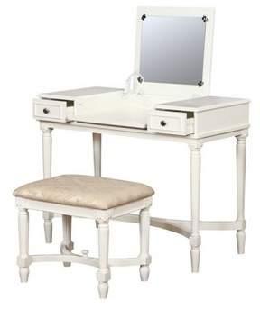 Linon Cyndi Vanity Set White