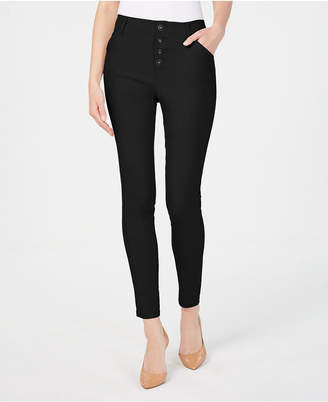INC International Concepts I.n.c. Button-Front Skinny Pants