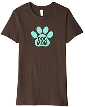 Dog Mom Shirt - Mint Paw Print Tee
