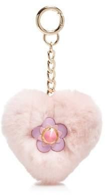 Maximilian Furs Rabbit Fur Heart Keychain - 100% Exclusive