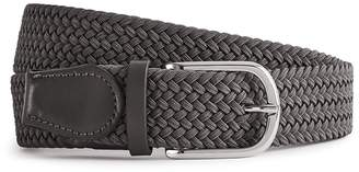 Reiss ELMONT WOVEN BELT Soft Grey