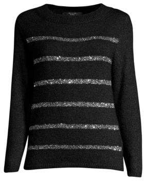 Max Mara Paglie Sequin Stripe Sweater