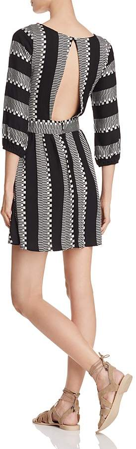 Piper Ramones Embroidered Lace-Up Dress 2
