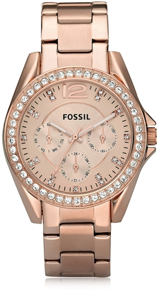 Fossil Riley Stainless Steel Women's Watch $135 thestylecure.com