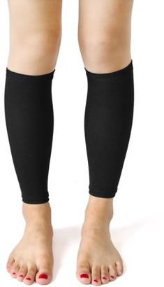 Unique Bargains Black Calories Off Slimming Crus Leg Loss Shaper Compression Sleeve