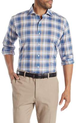 Peter Millar Expedition Chambray Plaid Tailored Fit Sport Shirt