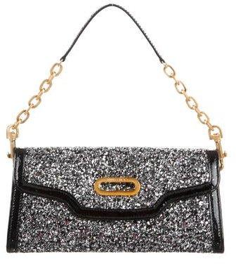 Jimmy ChooJimmy Choo Leather-Trimmed Glitter Clutch
