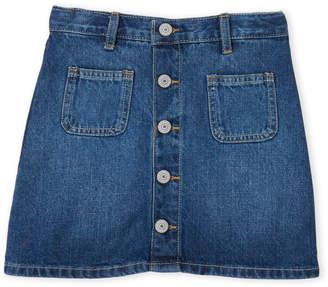 Levi's Girls 7-16) Button Front Denim Skirt