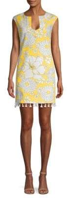 Trina Turk Straight-Fit Floral-Print Sleeveless Dress
