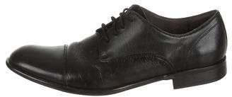 John Varvatos Pebbled Leather Cap-Toe Oxfords