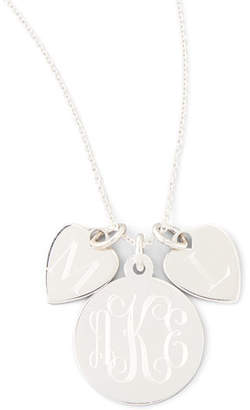 Sarah Chloe Sonya Layered Letter & Monogram Necklace, Silver